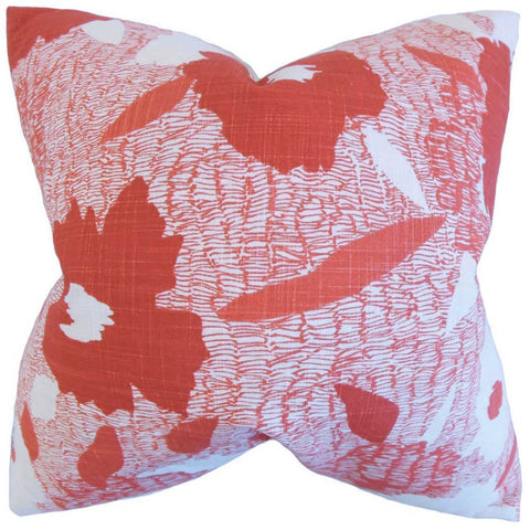 Fife Geometric Cushion Cover in Poppy Red