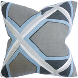 Otthild Geometric Cushion Cover in Grey and Blue