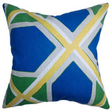 Otthid Geometric Cushion Cover in Blue and Green
