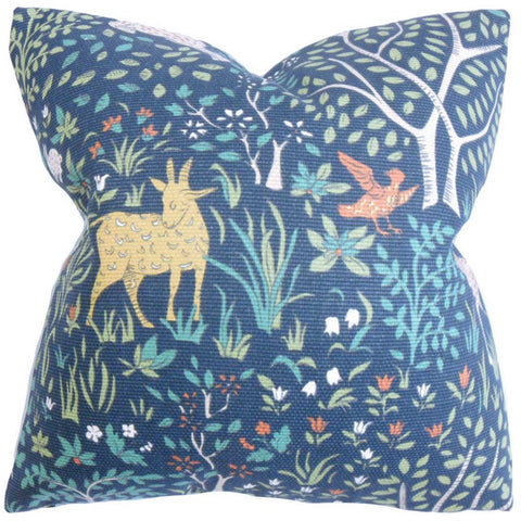 Elihu Floral Cushion Cover in Blue