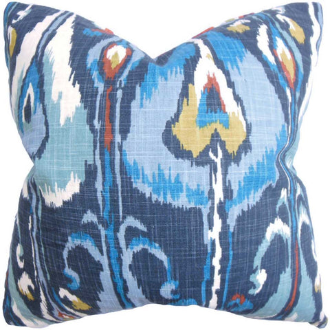 Gudrun Ikat Cushion Cover in Blue