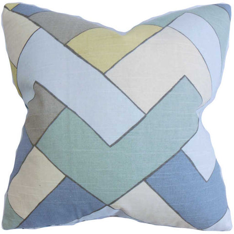 Jeppe Geometric Cushion Cover in Blue