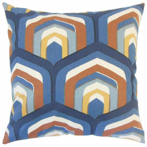 Ulric Geometric Cushion Cover in Cognac