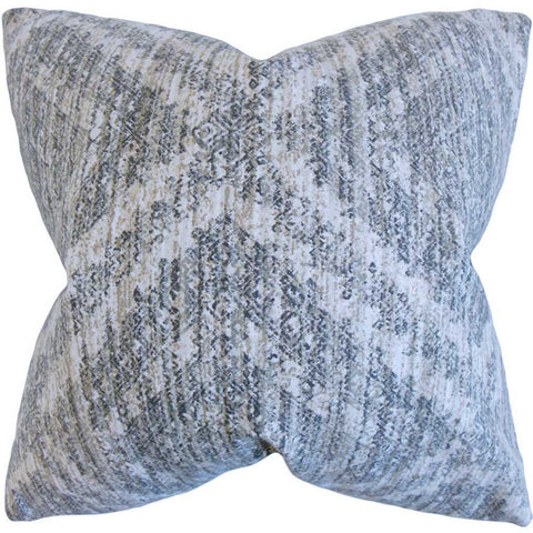 Quarry Geometric Cushion Cover in Pewter