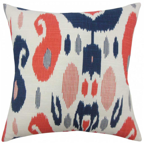 Xena Ikat Cushion Cover in Lapis Blue