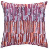 Prunella Stripes Cushion Cover in Crimson Red