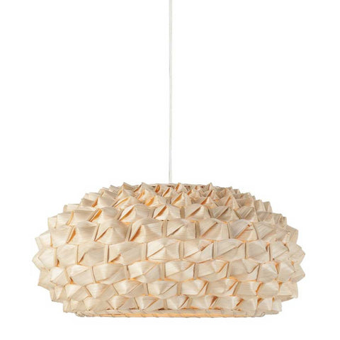 Flat Natural Bamboo Sagano Pendant Light