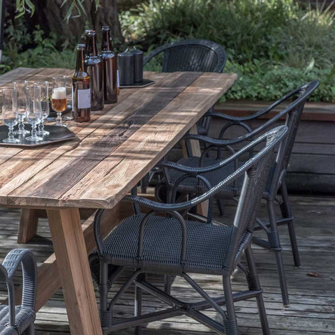 Malmo | Outdoor Teak Dining Table | Brushed Teak