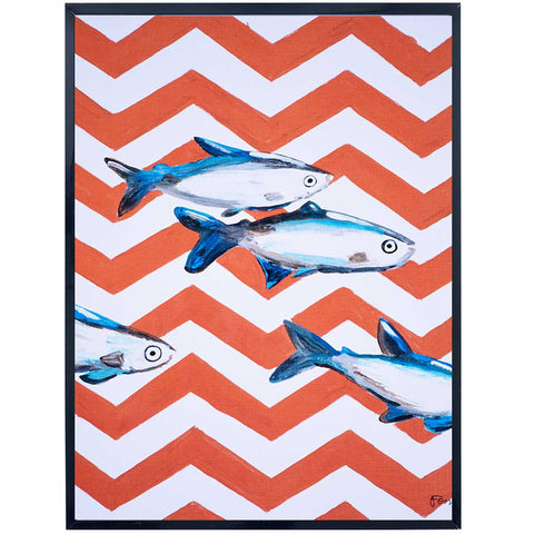 Oceania | Fish Painting | Zig Zag Patterned | Art Print