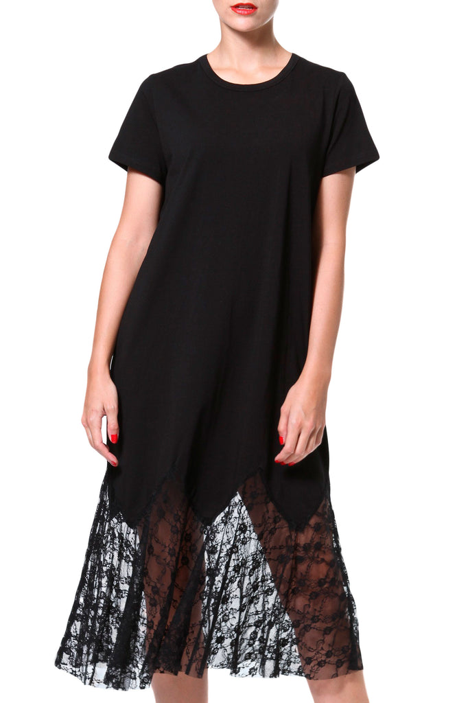 Lace-Knit T-Dress