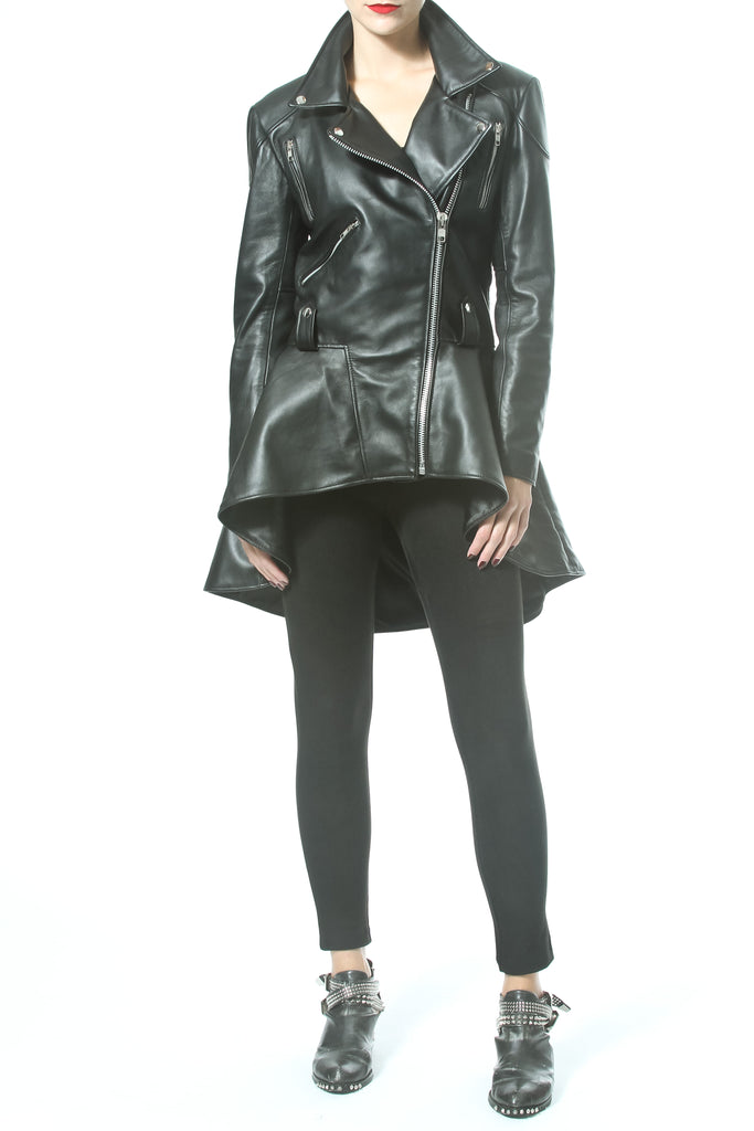 CHIC LEATHER PEPLUM