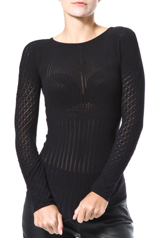 Mock Neck Pointelle Seamless Second Skin