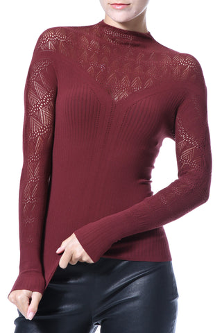 Off Shoulder Ribbed Seamless Knit Top