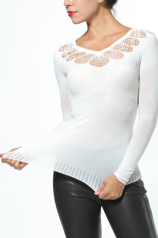 Knit Tee with Front Design