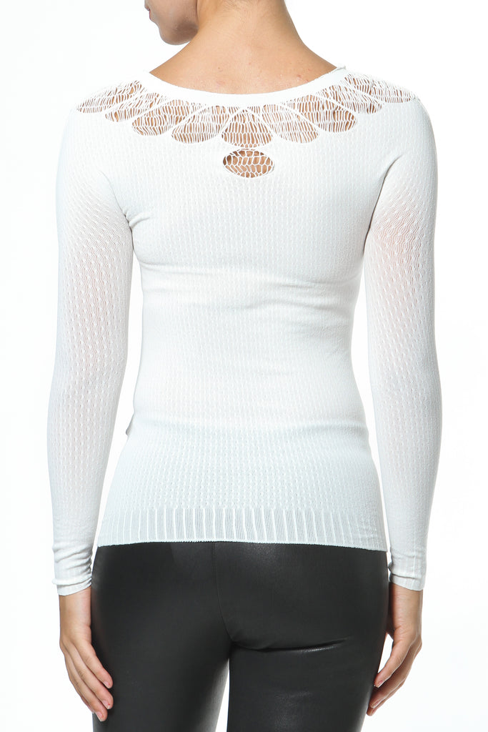 Cut-Out V- Neck Seamless Second Skin