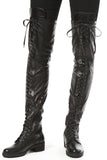 Over The Knee Stretch Boots