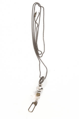 Grey Beaded Pendant