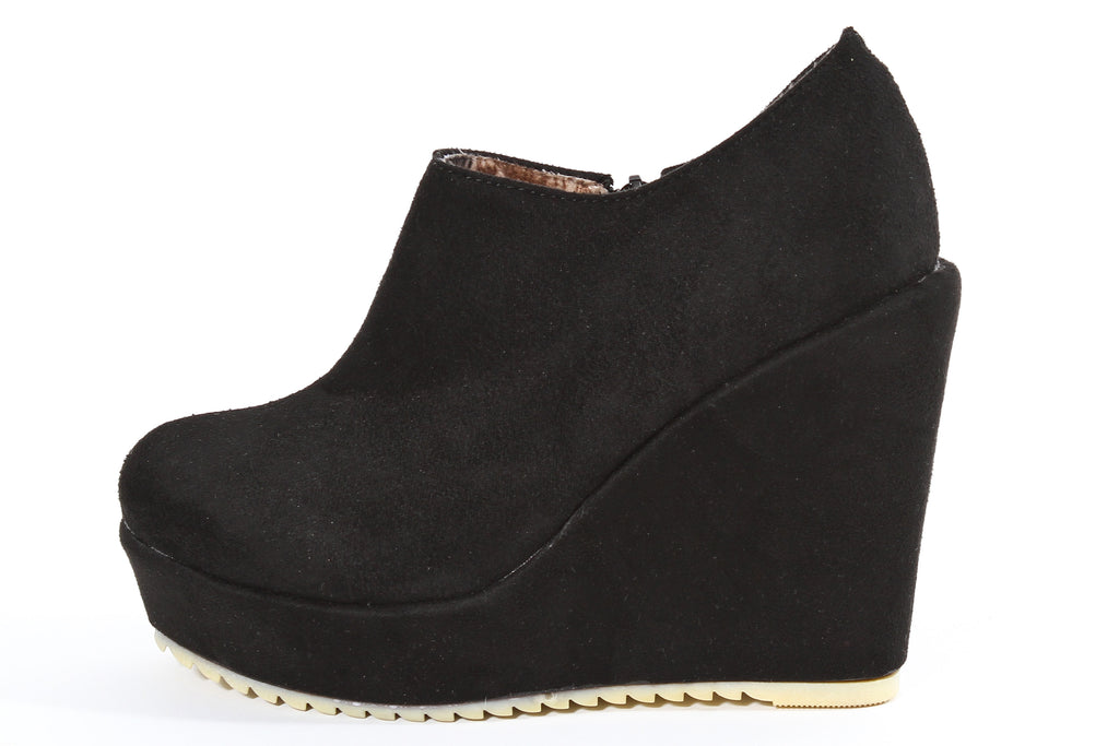 Wedge Plush Bootie