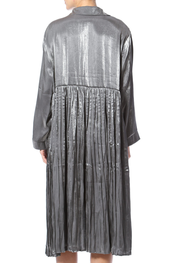 Metallic Oversized Shirt-Dress