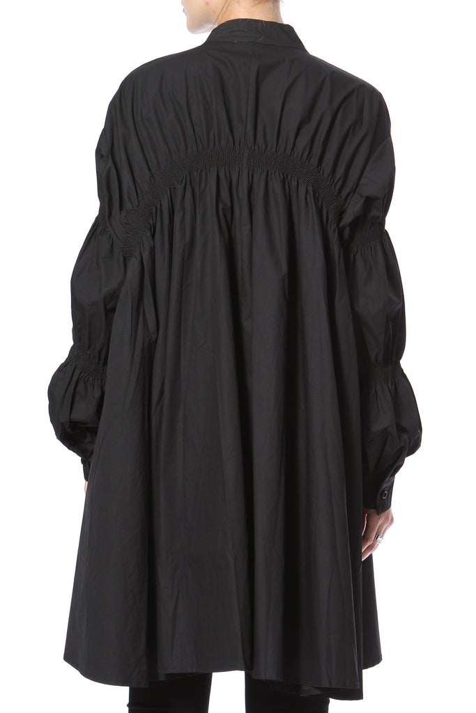 Ruched Shirt-Dress