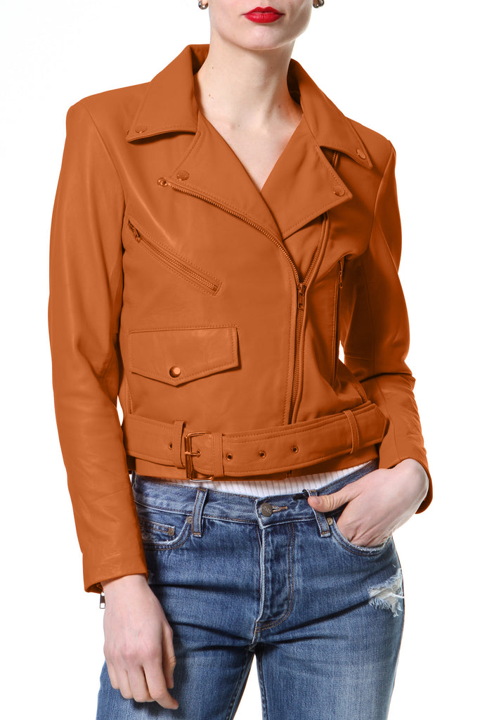 Crop Leather Biker
