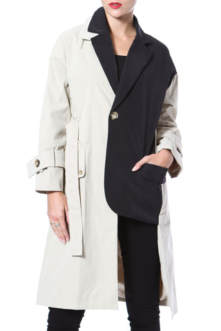 Crinkled Washed Leather Trench