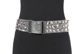 Jewel Trim Leather Belt
