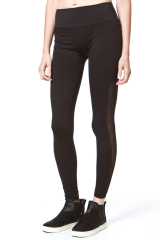 Stretch Faux Suede Leggings