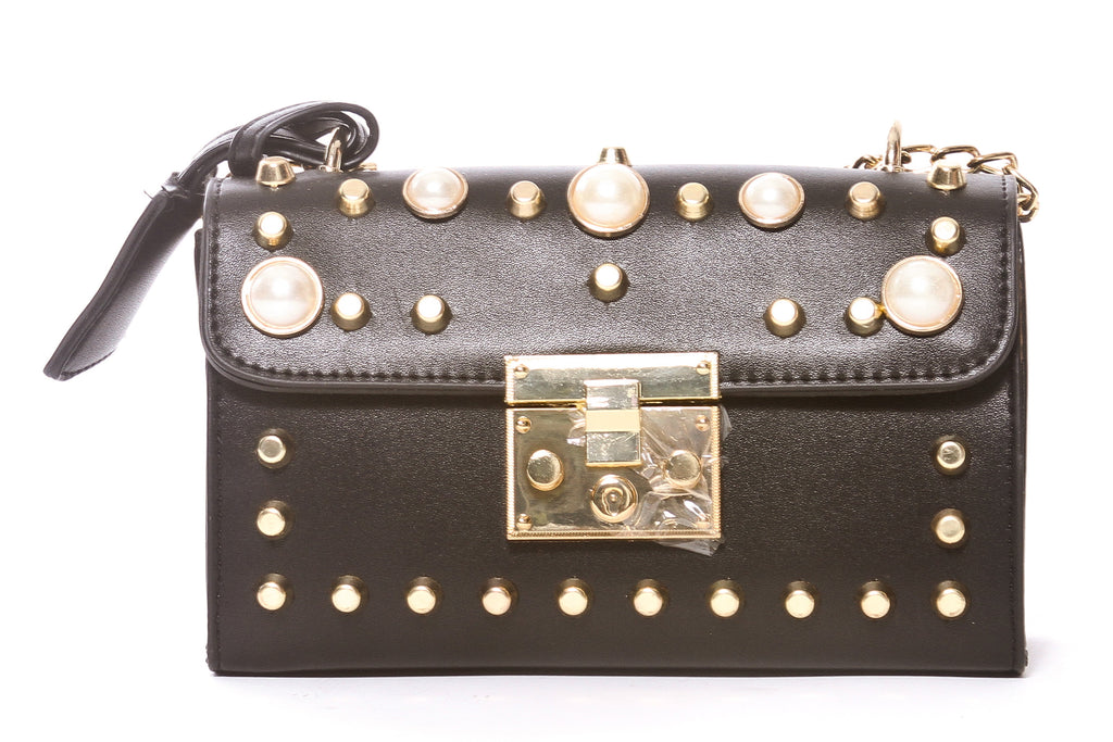 PEARL & CRYSTAL MESSENGER BAG