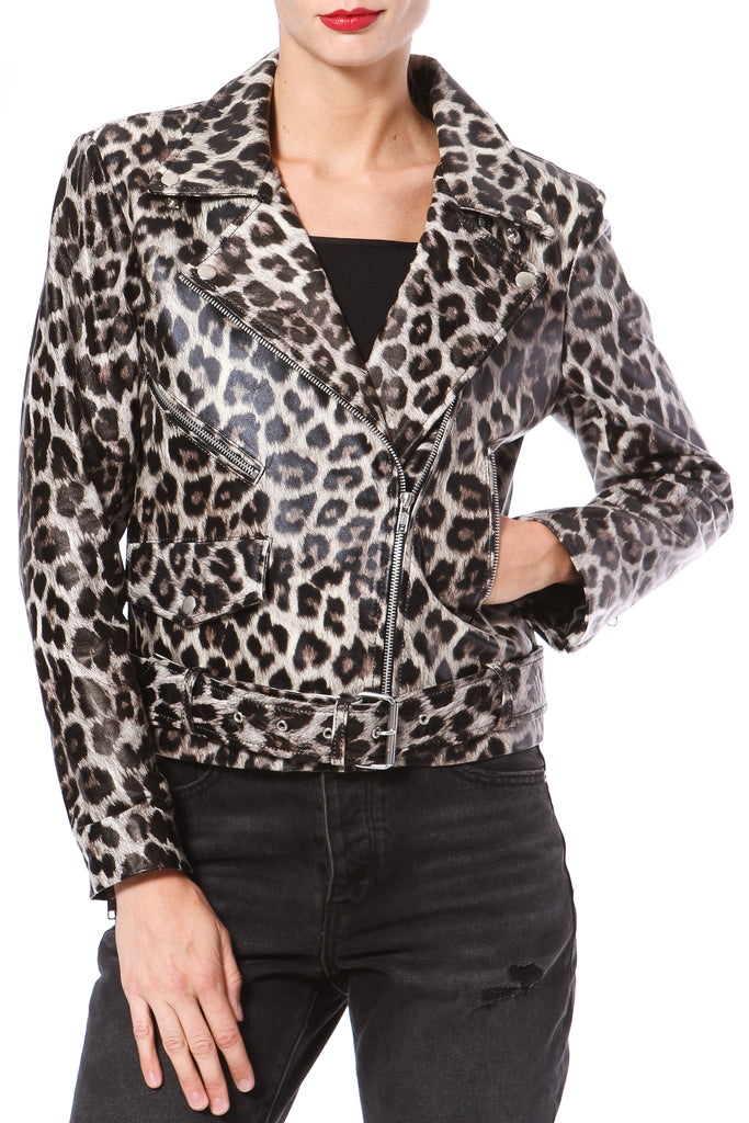 Leopard Leather Biker