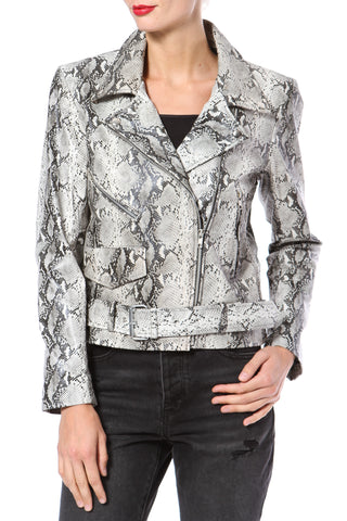 Leather & Lace Peplum Moto
