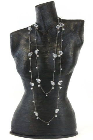 FRINGE DOUBLE STRAND NECKLACE