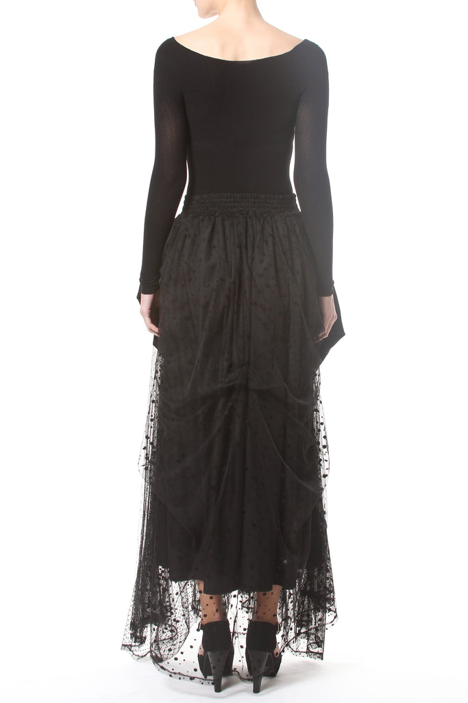 Bustle Tiered Maxi Skirt