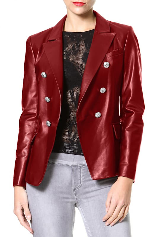 Luxe Leather Blazer
