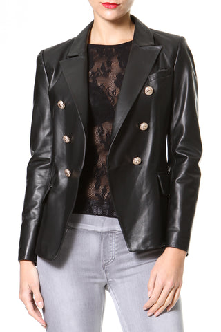 Leather & Lace Luxe Blazer