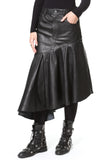 Leather Asymmetrical Skirt