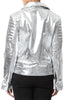 Metallic Leather Biker