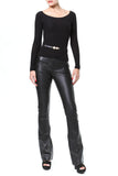 Leather Boot Cut Trouser
