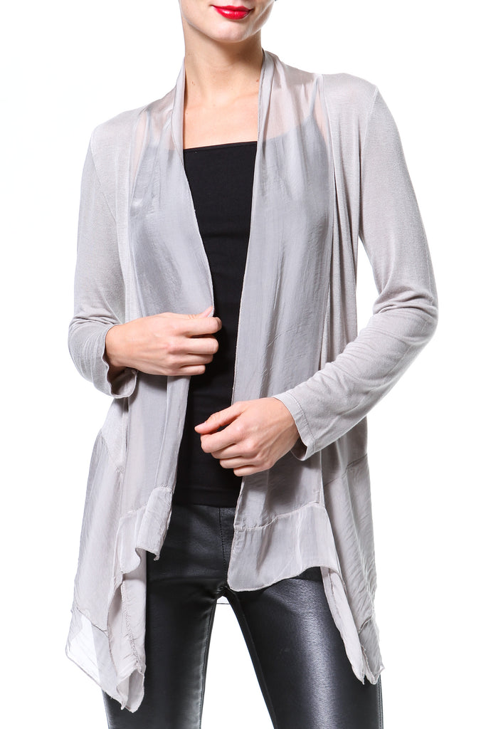 Silk-Knit Cardigan