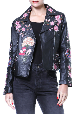 Denim & Leather Bomber