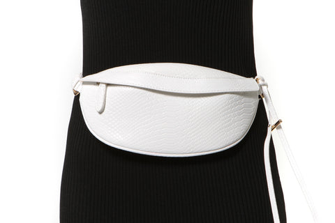 Zip Front Wide Elastic Belt