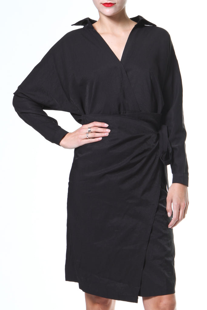 Wrap Front Shirt-Dress