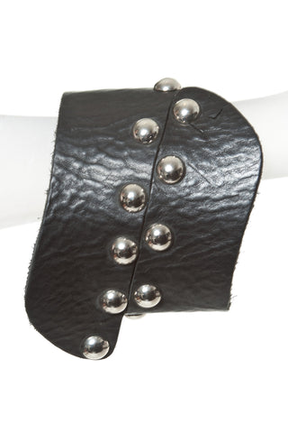 Studded Leather Wrap Bracelet