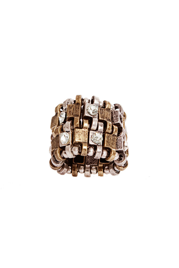 STACKED METAL RING - Madonna and Co