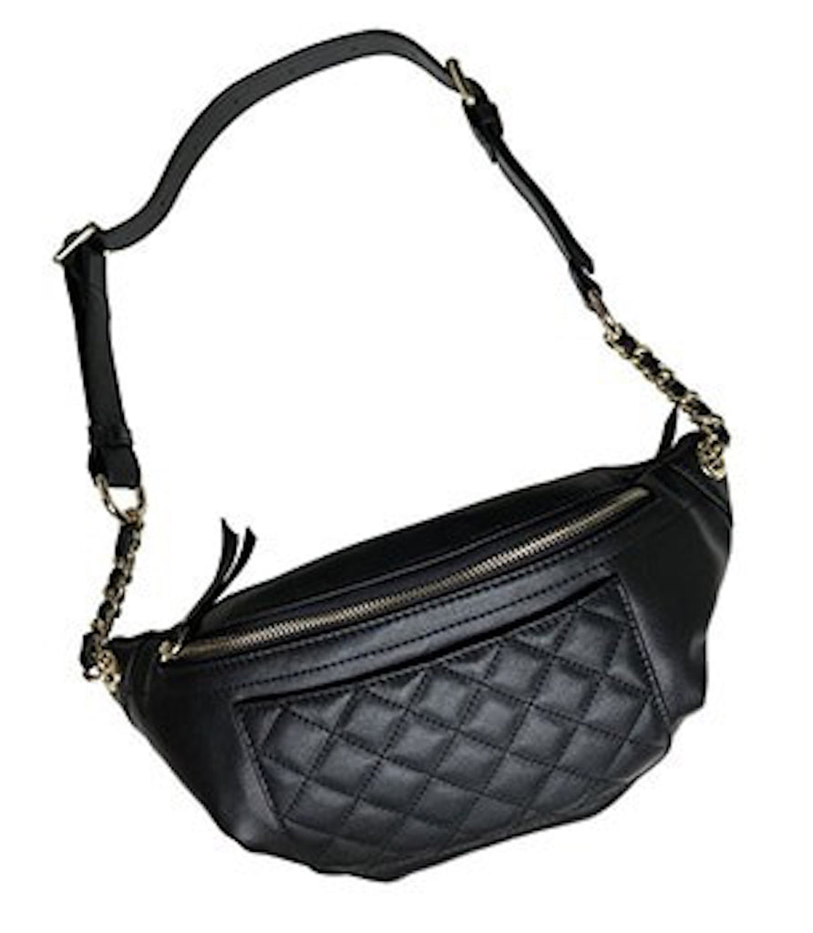 Leather Quilted Belt-Cross-Body Bag