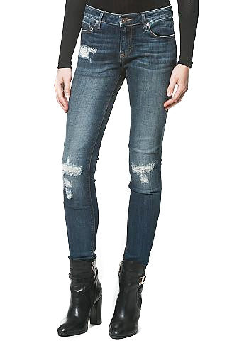 DISTRESSED MID-RISE JEAN - Madonna and Co - 1