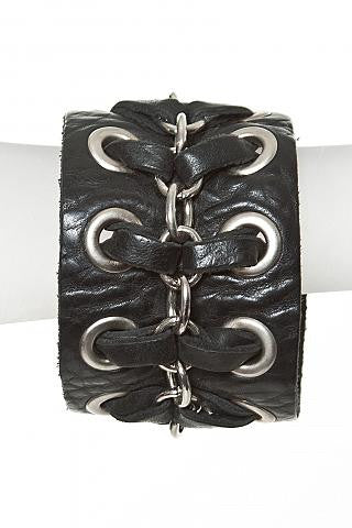 Leather Cuff With Studs