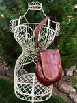 Brown Leather w/ Fringe Small Shoulder Bag