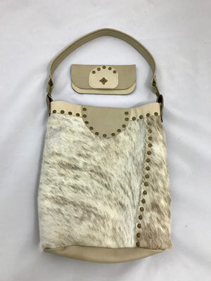 Bone Fur Hide Bucket Bag