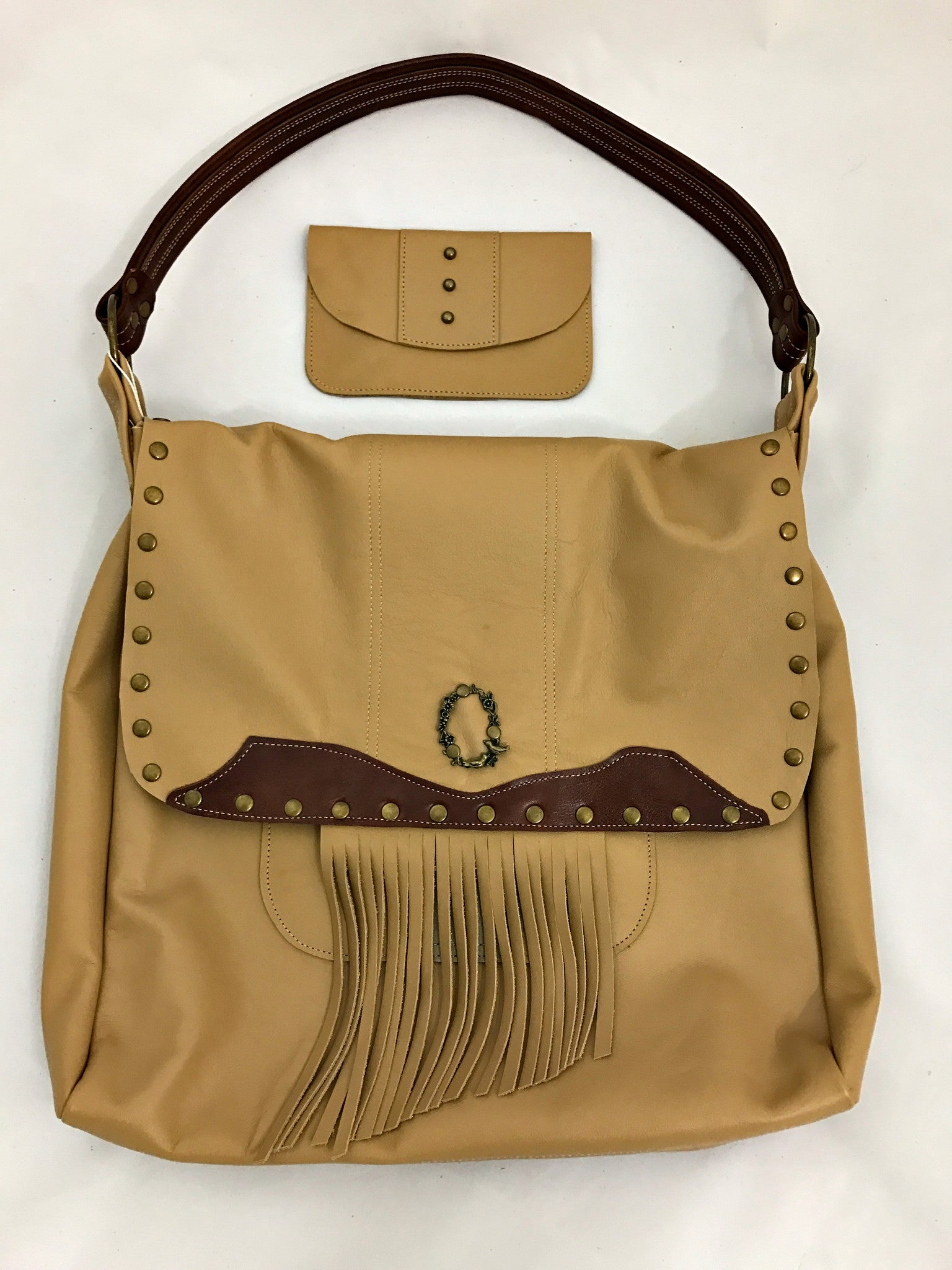 Tan Messenger Large Shoulder Bag